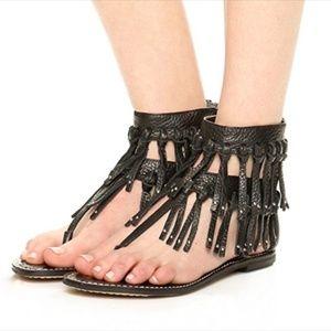 Sam Edelman Griffin Gladiator Sandals Black Size 7